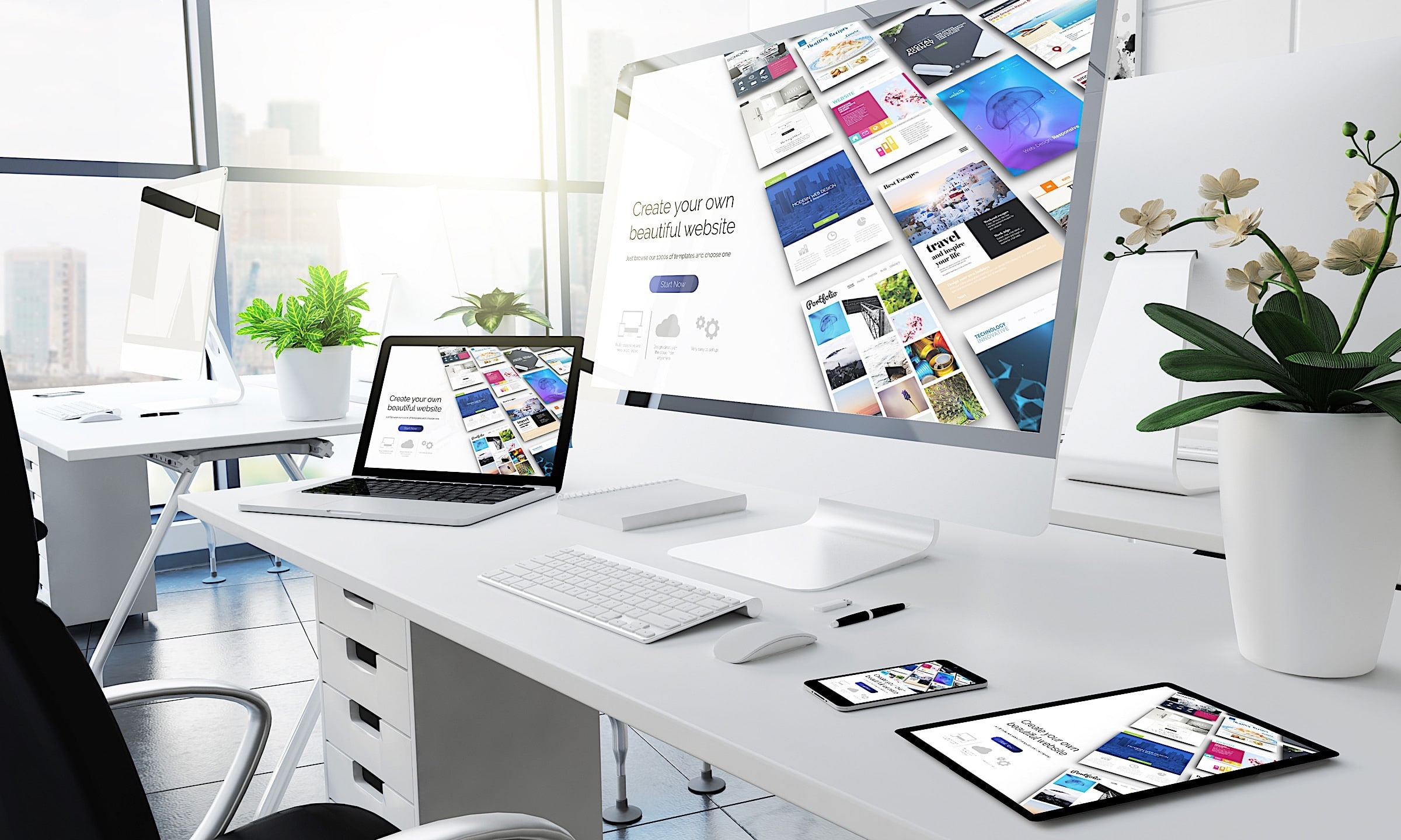 Webdesigner desk 2